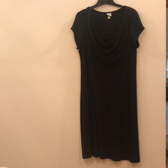 Merona Dresses & Skirts - Merona Cowl Neck Knit Black Dress, Size L